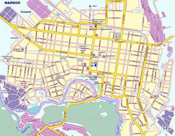 Карта Майкопа от Google.