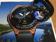 Casio Pro Trek Smart WSD-F20-BK Модель 2017 года