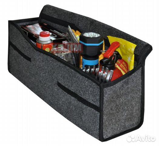 Органайзер в багажник Airline, складной 36x18,5x26 см (17л), черный/оранжевый, АО-SB-23