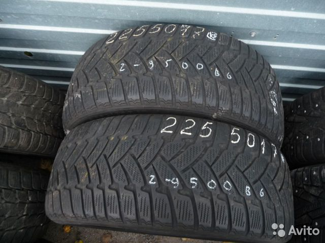 Шины бу 225 50 17 Dunlop SP winter Sport RF и25— фотография №1