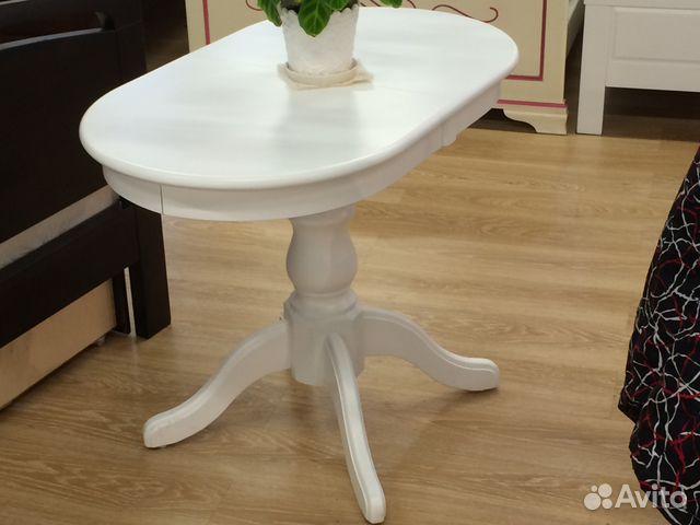 f30be38d49799 Стол овальный белый раздвижной купить в Санкт-Петербурге на Avito ...