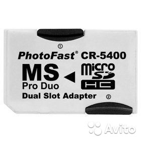 Переходник 2гн. Micro SD - Memory Stick MS Pro Duo— фотография №1