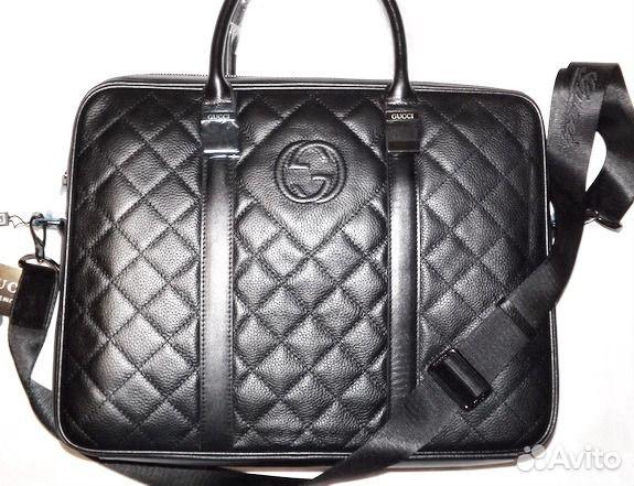 Кожаная мужская сумка Gucci briefcase black new   Festima.Ru ... 1bb48a6c755