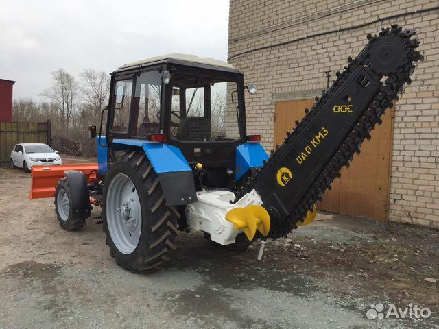 Фреза дорожная навесная МДФ (ДЭМ-121) на тракторе МТЗ
