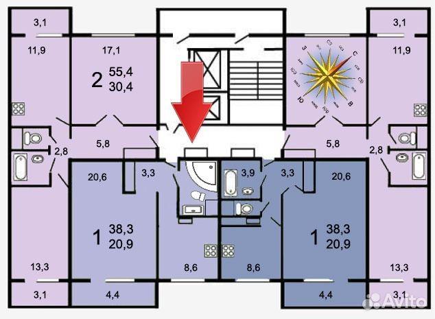 1-к квартира, 38 кв.м, 2/12 эт. festima.ru - мониторинг объя.