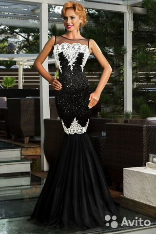 Вечернее платье в пол авито