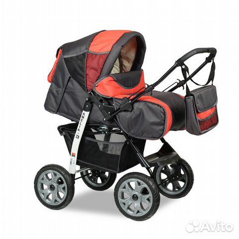 Легкая коляска трансформер для новорожденных
