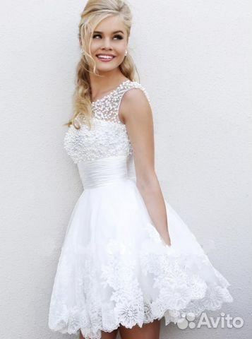 49fe82a8945 Новое Короткое Свадебное платье
