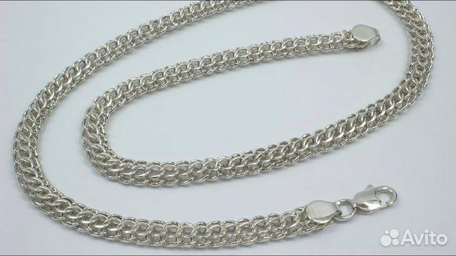 Мужская цепь Итальянка серебряная, вес 68,4 грамм 89283211593 купить 1