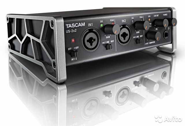 Аудиоинтерфейс Tascam US-2x2 купить 1