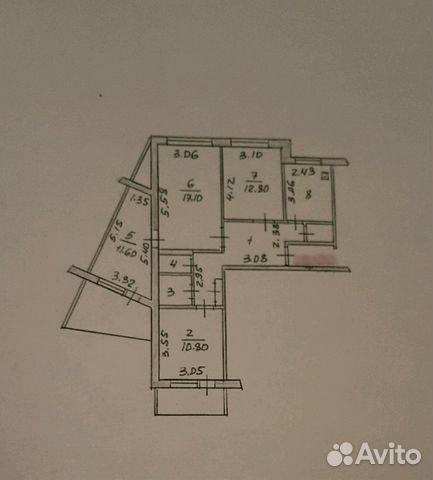 4-к квартира, 77 м², 7/9 эт. 89176688368 купить 1