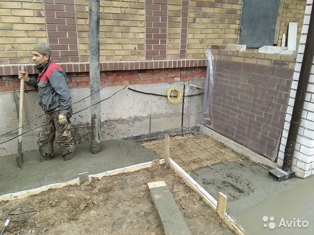 отмостка бетон или раствор