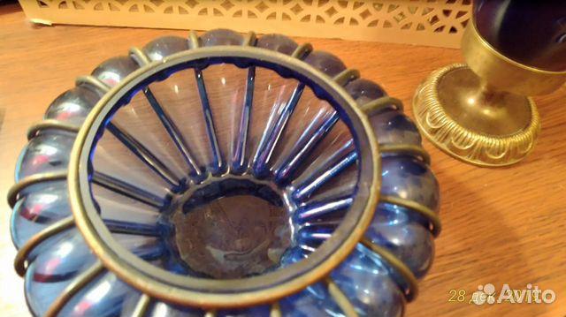 Старинная кобальтовая лампа 89043366666 купить 5