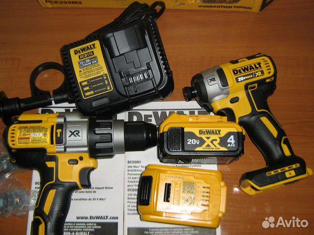 Новый набор шуруповертов Dewalt DCK299M2 США 89134329120 купить 3