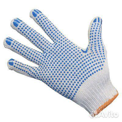 Перчатки хб (Белые, черные)
