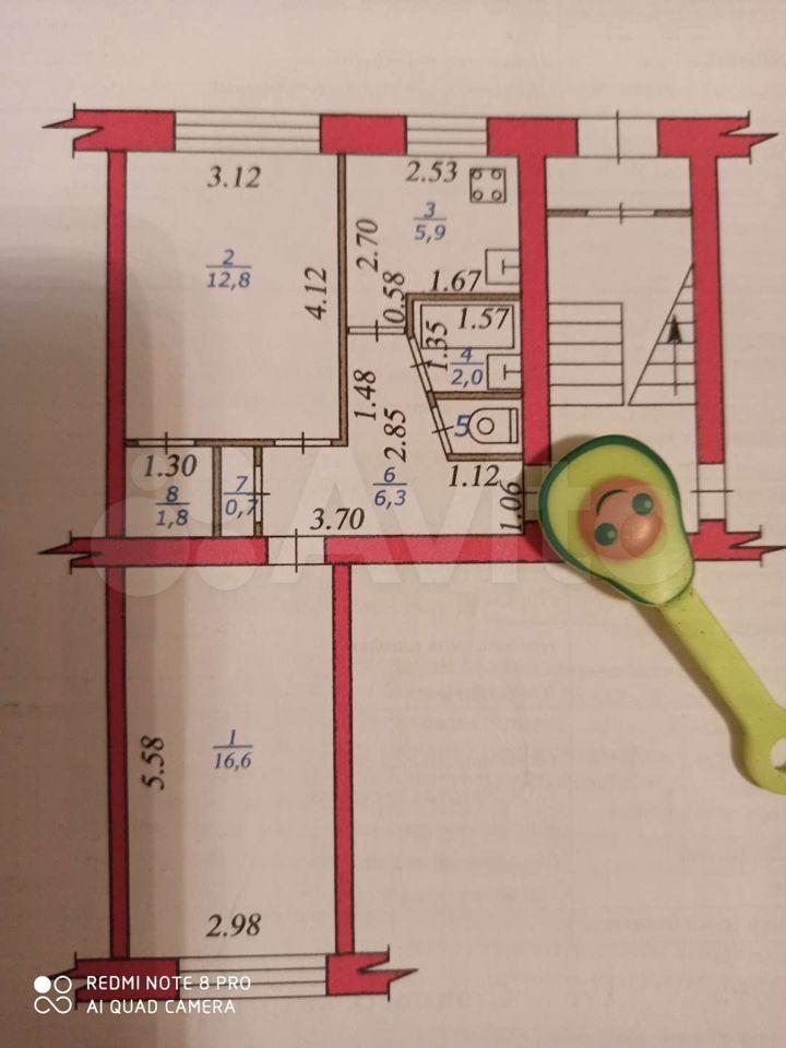 2-к квартира, 47 м², 1/5 эт.  89532666293 купить 4