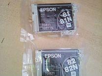 Картриджи Epson T081 T082 черные