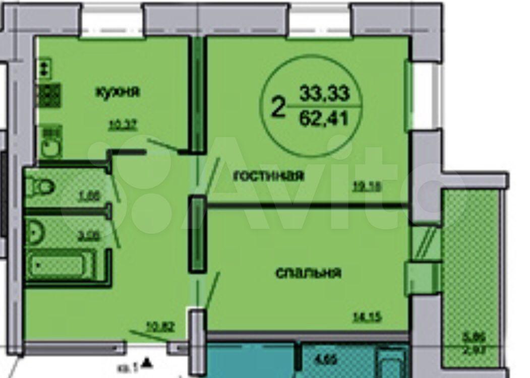 2-к квартира, 63 м², 7/9 эт.  89613370862 купить 1