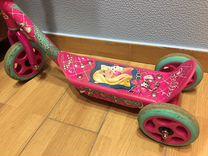 Самокат трёхколёсный Barbie