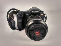 Зеркальный фотоаппарат Sony Alfa A200 + карта 4 Gb