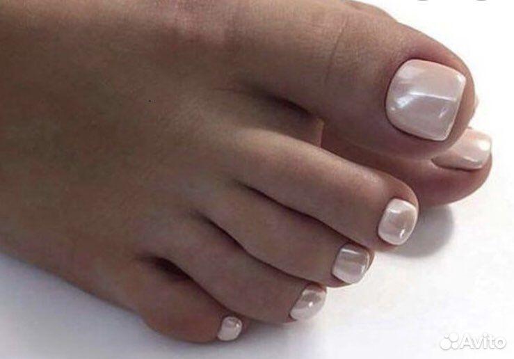 Покрытие гель-лаком пальцы ног