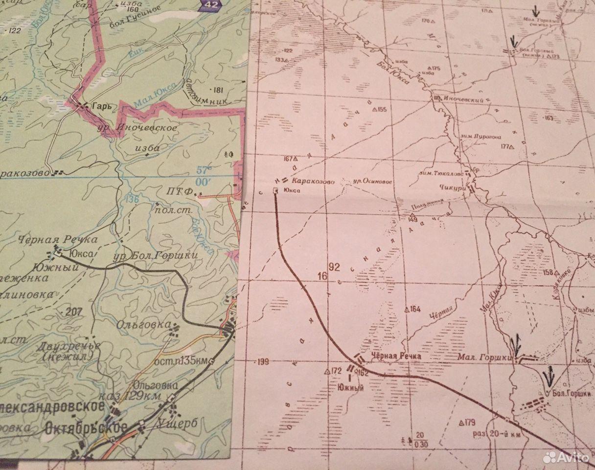 Карты Районов Томской области 1952 года