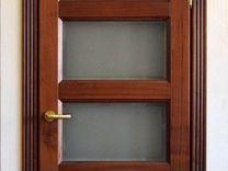 Двери из массива красного дерева (sapely)