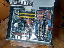 Мат. плата asus soket 775 p35 встроеный wifi с CPU