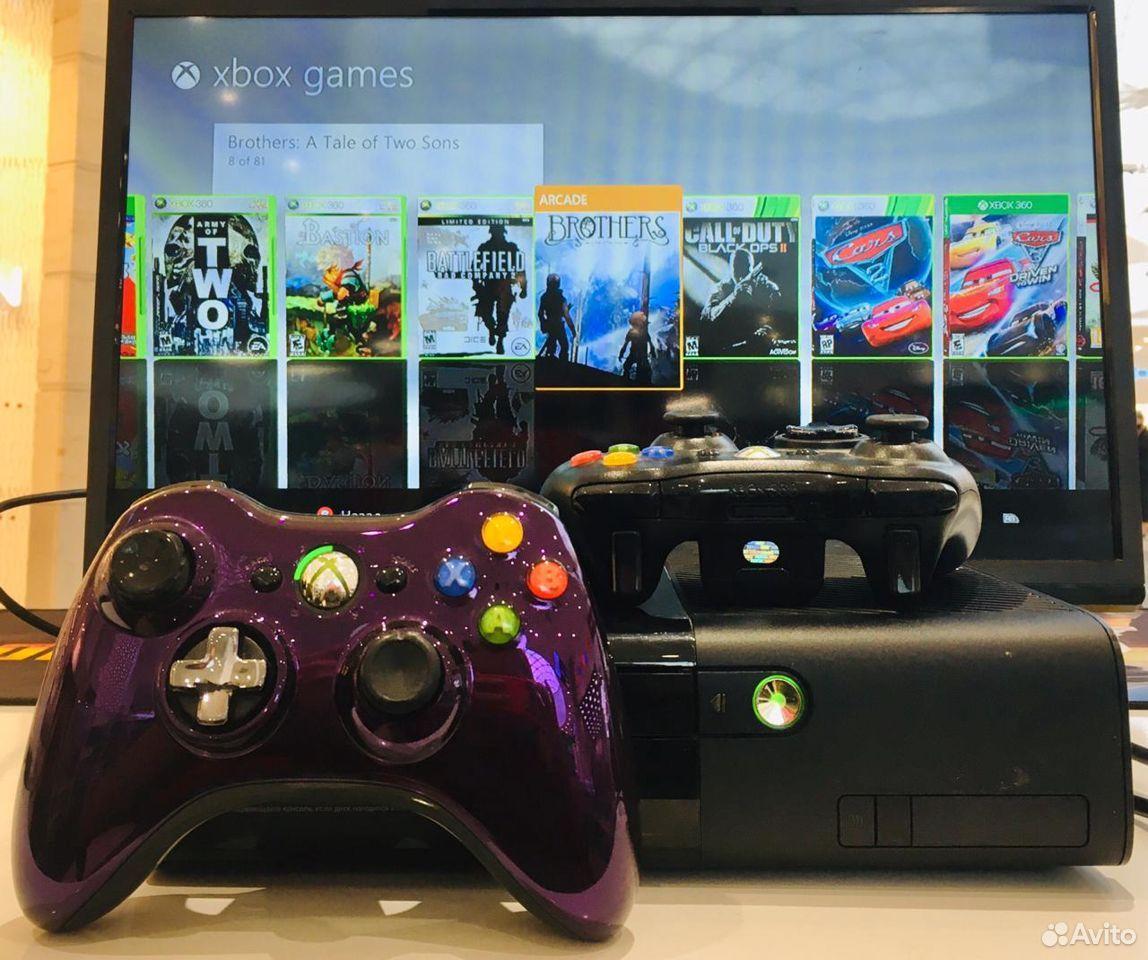 Xbox360 E 320gb/ 2 геймпада/ 187 игр/ ТЦ калина мо