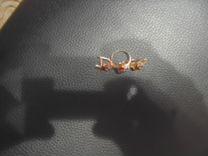Серьги и кольцо набор 585. 8.62гр