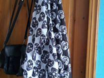 Шарфики с черепами - 2 шт черный и белый новые