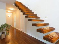 Лестница консольная деревянная