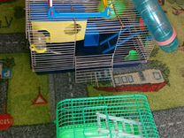 Большая клетка для хомячка с лабиринтом и домом