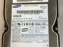 Два диска на 80Гб IDE и SATA
