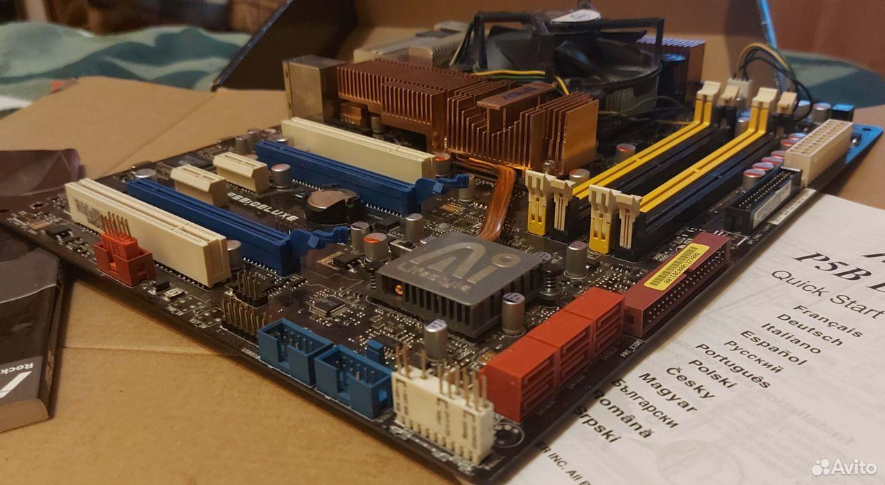 Asus P5E Deluxe Socket LGA775 Полный комплект  89101652659 купить 5