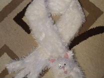 Шарф кошка белый